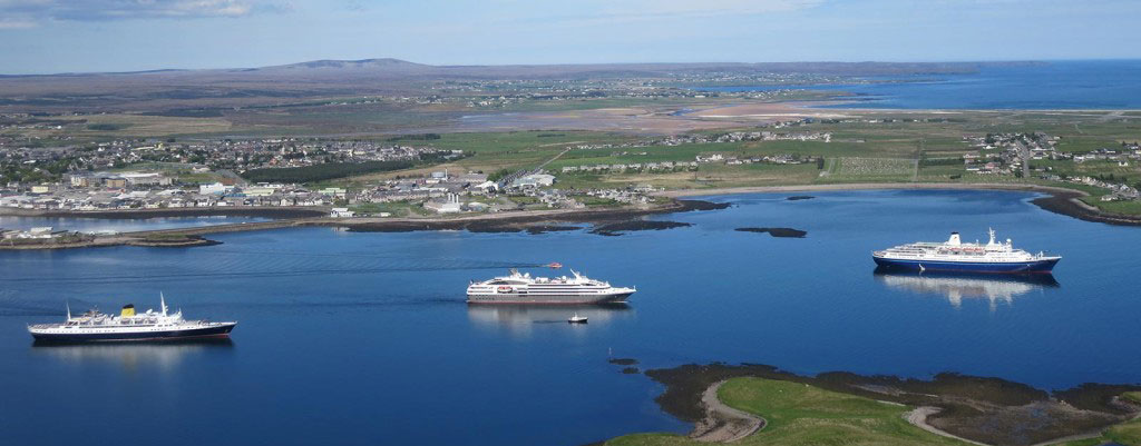 Cruise Ships Sailing By Stornoway, Scotland